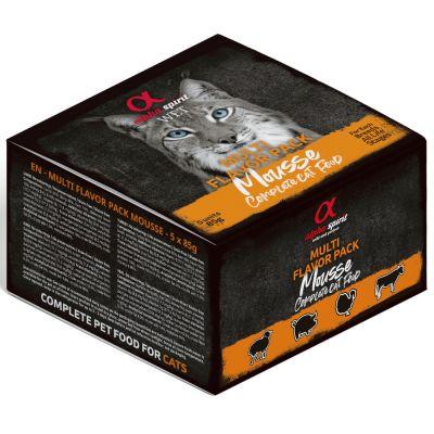 alpha spirit Multi-Flavour Pouch -kissanruoka - 5 x 85 g