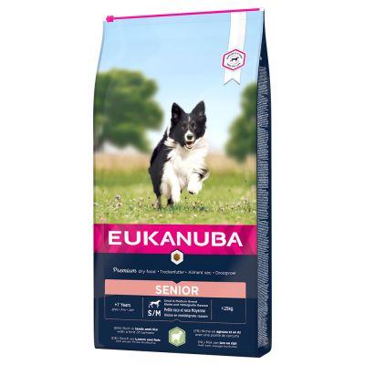Eukanuba Senior Small & Medium Breed Lamb & Rice - säästöpakkaus: 2 x 12 kg
