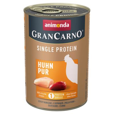 Animonda GranCarno Adult Single Protein 6 x 400 g - kalkkuna