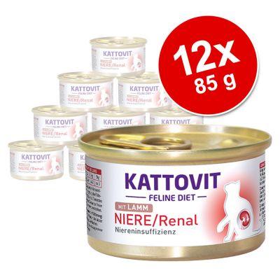 Kattovit Renal 12 x 85 g en latas comida húmeda para gatos - Cordero