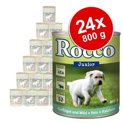 Foto Rocco Junior 24 x 800 g - Cuori di Pollo con Riso