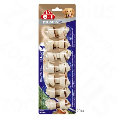 Obraz przedstawiający 8in1 Delights kości z wołowiną - XS, 7 x 12 g