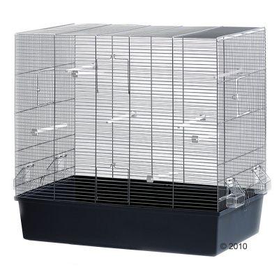 Fågelbur Rose – L 80 x B 45 x H 75 cm, grå/blå