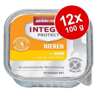 Ekonomipack: Animonda Integra Protect Adult Renal 12 x 100 g portionsform - Griskött