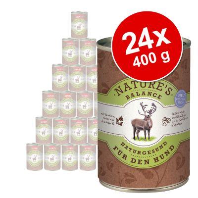 Ekonomipack: Rinti Natures Balance 24 x 400 g – Nötkött, potatis & färska ägg