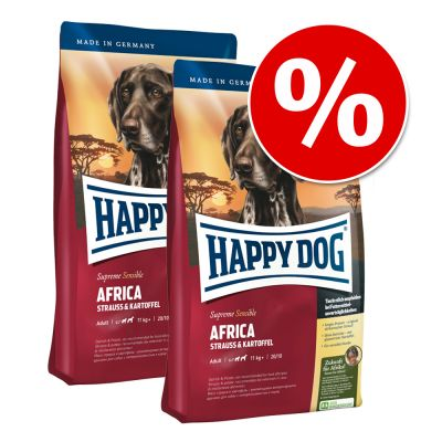 Ekonomipack: 2 påsar Happy Dog Supreme till lågt pris! – Young Medium Baby (fas 1) (2 x 10 kg)