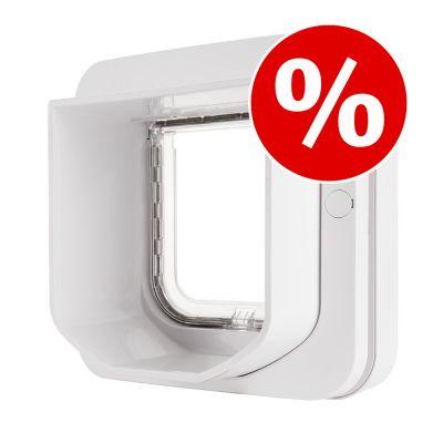 SureFlap-mikrosirukissanluukku erikoishintaan! - tunnelijatke, valkoinen (ei sisällä kissanluukkua)