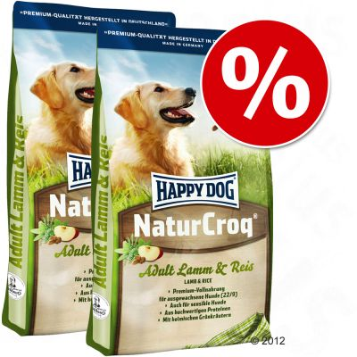 Pack Ahorro: Happy Dog Natur - NaturCroq con vacuno y arroz