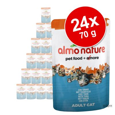okonomipake-24-x-70-g-almo-nature-orange-label-mix-12-x-tuntun-kylling