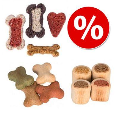 Edulliseen pakettihintaan: 1 kg DogMio Nuggets & 1 kg Bonies & 500 g Barkis - 1 kg Bonies + 1 kg Nuggets + 500 g Barkis