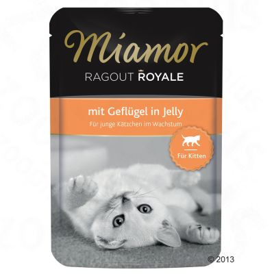 Miamor Ragout Royale Kitten 22 x 100 g – Fågel