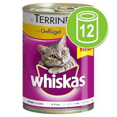 Whiskas - 12 x 400 g Whiskas 1+  Hart in terrine  kattenvoer