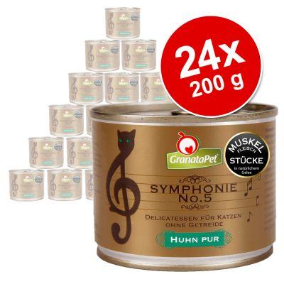 Ekonomipack: 24 x 200 g GranataPet Symphonie – Vilt & kyckling