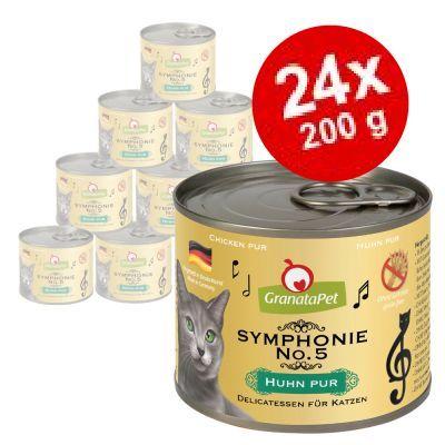 Ekonomipack: 24 x 200 g GranataPet Symphonie - Lax & kalkon