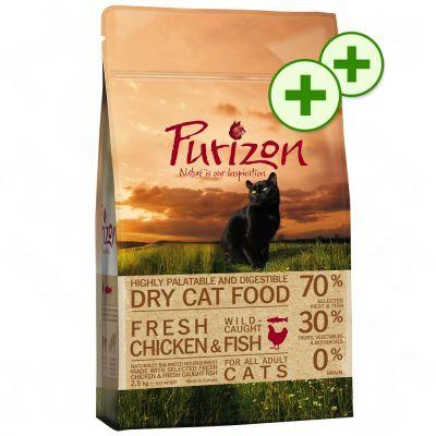 2 x zooPlusPisteitä: Purizon-säästöpakkaukset - Chicken & Fish (2 x 6,5 kg)