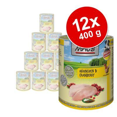 MAC's Adult -säästöpakkaus 12 x 400 g - kana & karpalo