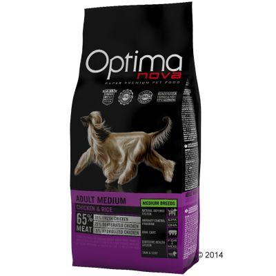 12 kg Optimanova Medium Adult Kip Rijst Hondenvoer