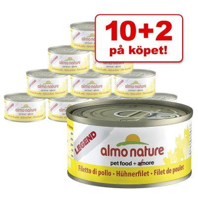 10 + 2 på köpet! 12 x 70 g Almo Nature – Legend: Kycklingfilé