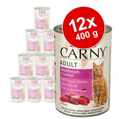 Animonda Carny Adult 12 x 400 g - Pack Ahorro - Vacuno y cordero