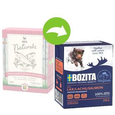 Bozita Chunks in Jelly 24 x 370 g – mix: lohi, hirvi, kana & riisi, poro