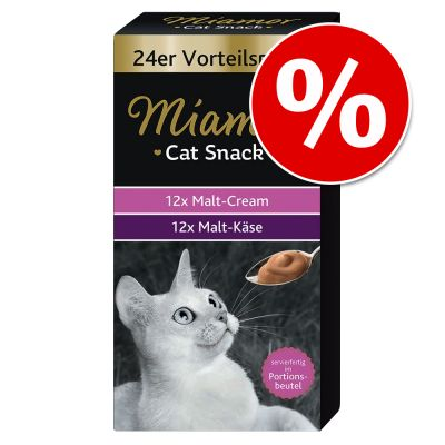 Miamor Cat Snack -säästöpakkaus 24 x 15 g – Malt Cream & Malt Cheese Multibox