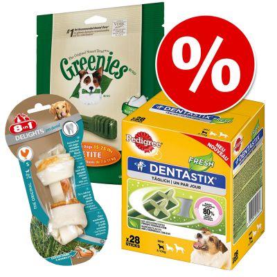 Säästöpakkaus: Topseller-hammashoitoherkut - Topseller-paketti: koko M