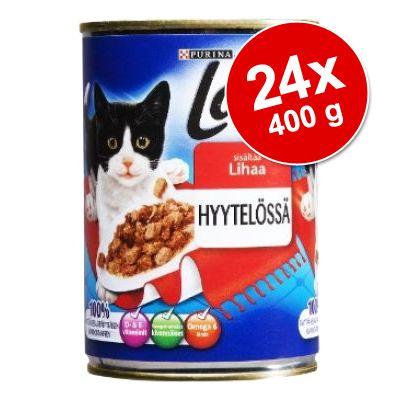 Ekonomipack: Latz (Pussi) bitar i gelé 24 x 400 g - Kanin & anka