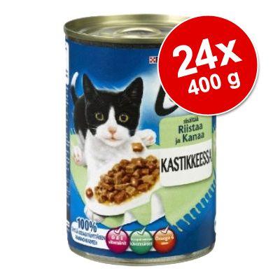 Ekonomipack: Latz bitar i sås 24 x 400 g - Kanin & kyckling