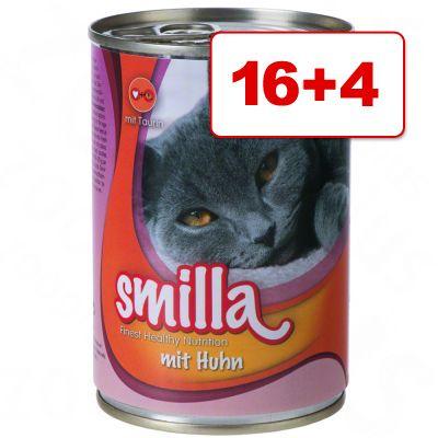 16 + 4 kaupan päälle! Smilla-pata 20 x 400 g - lohi