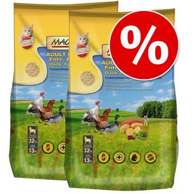 MAC's Cat -säästöpakkaus 2 x 7 kg - Adult Duck, Turkey & Chicken