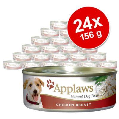 Applaws-säästöpakkaus 24 x 156 g - kana, lohi & vihannekset