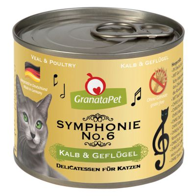 GranataPet Symphonie -tutustumispakkaus 6 x 200 g - 6 makua
