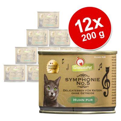 GranataPet Symphonie -säästöpakkaus 12 x 200 g - riista & kana