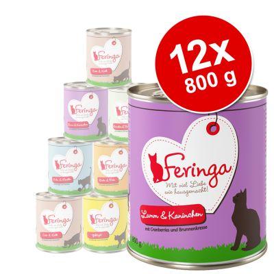 Feringa Classic Meat Menu -säästöpakkaus 12 x 800 g - lammas & kani