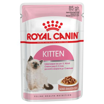 Royal Canin Kitten Instinctive in Gravy - Lajitelma: Gravy & Jelly 24 x 85 g