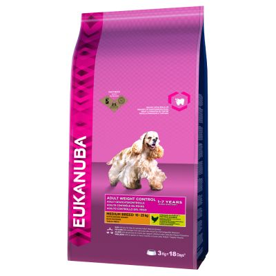 Eukanuba Adult Weight Control Medium Breed - 15 kg