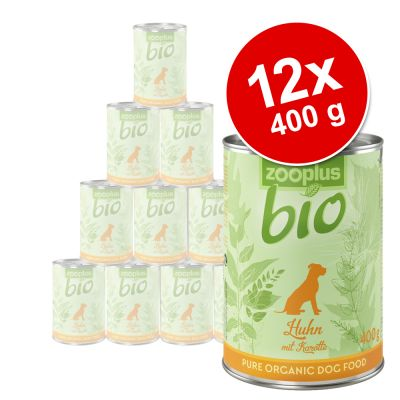 zooplus Bio 12 x 400 g - mix: kana + nauta