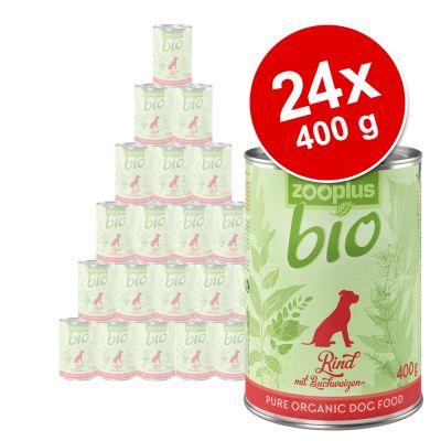 zooplus Bio -säästöpakkaus 24 x 400 g - kana & porkkana