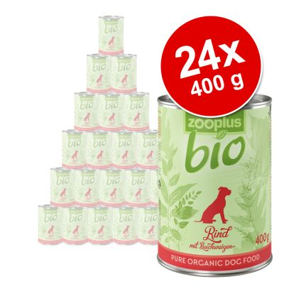 zooplus Bio -säästöpakkaus 24 x 400 g - mix: kana + nauta + kalkkuna