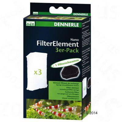 Dennerle Nano Filterelementen - 3 stuks