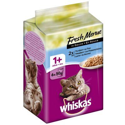 Whiskas Fresh Menue - 12 x 50 g kanaa, kalkkunaa, siipikarjaa kastikkeessa