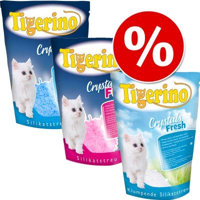 Tigerino strö med silikat Fun eller Fresh 3 x 5 l – Fun: blått