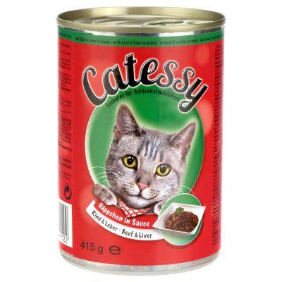 Catessy kastikkeella, 6 x 400 g - ankka & maksa