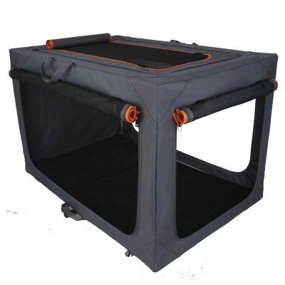 Alu Deluxe vikbar nylonbur – Stl. L: L 91 x B 61 x H 58 cm