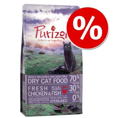 Purizon-kokeilupakkaus 400 g erikoishintaan! - Adult Sterilised Chicken & Fish