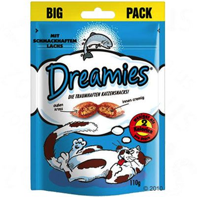 Dreamies Cat Treats Big Pack 180 g - Ekonomipack: Ost (6 x 180 g)