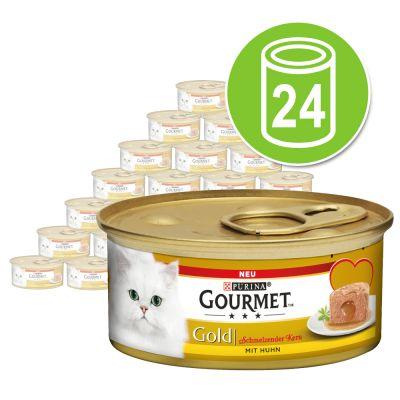 Purina Gourmet Gold Fondant 24 x 85 g - Pack Ahorro - Atún