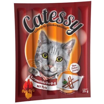Catessy Katzensticks - 10 Stück - Bar-B-Q mit Pute