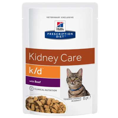 Hill's Prescription Diet Feline k/d Kidney Care - nauta - säästöpakkaus: 48 x 85 g