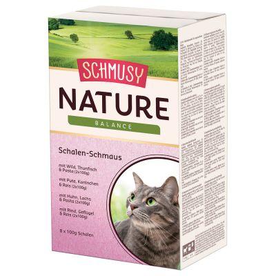 Schmusy Nature -vuokalajitelma - 16 x 100 g